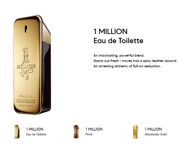 Editii parfum Paco Rabanne One Million