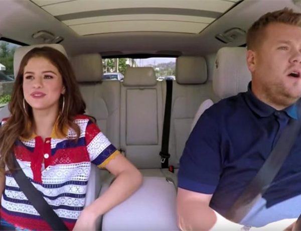 James Corden si Selena Gomez - karaoke in masina